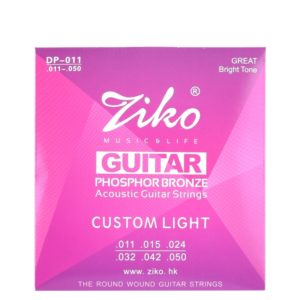 ZIKO-Acoustic-Guitar-Strings-set-010-011-012-DP-011-PHOSPHOR-BRONZE-Great-Bright-Tone-Wound