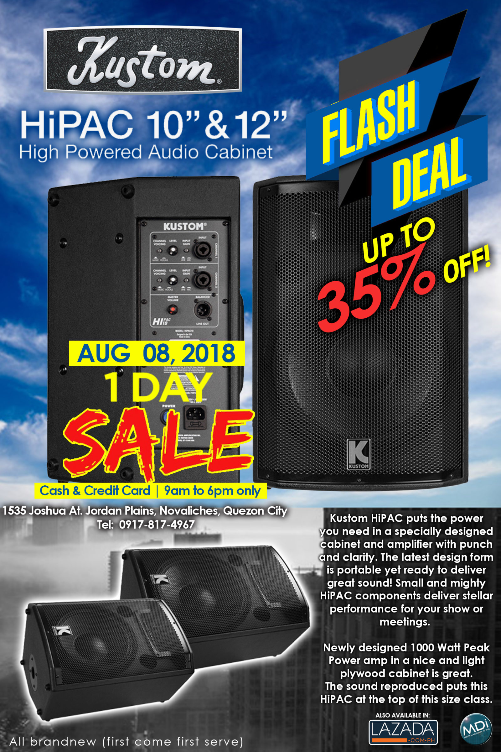 HIPAC FLASH DEAL